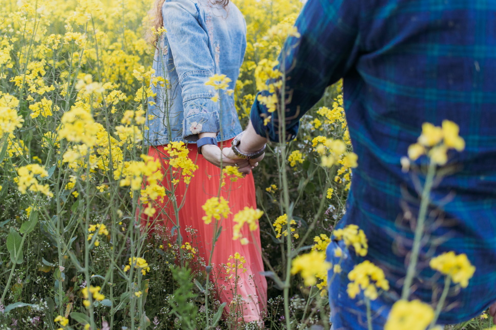 engagement photography Northern Ireland, couple, oil seed rape - love and light photography ni -