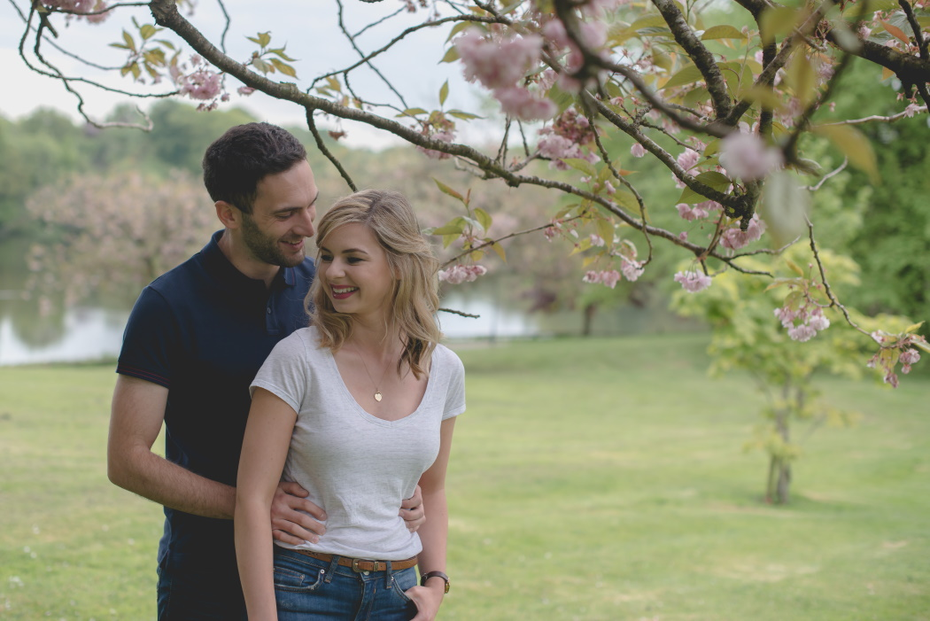engagement photography Northern Ireland, Dungannon, cherry blossom - love and light photography ni -